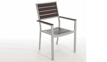 silla jardín aluminio y resina