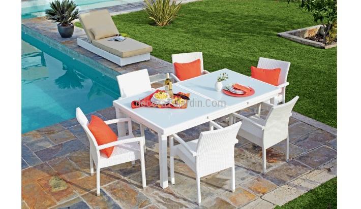 Mesa comedor extensible 180 240 x 100 - Comedor terraza ...