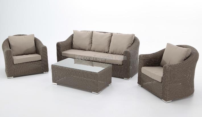 Set de jard n sof s de exterior for Sofas para exterior