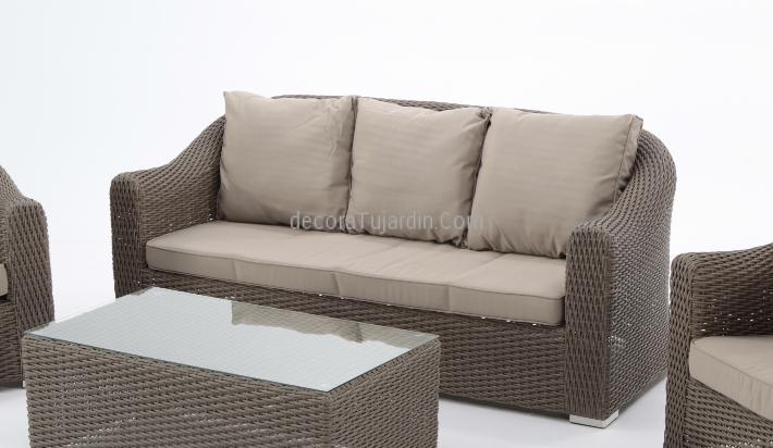 sofá 3 plazas jardín