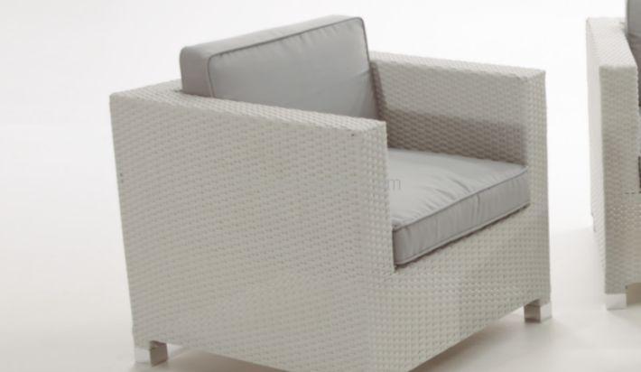 Muebles de exterior sof s de terraza y jard n blanco - Muebles exterior barcelona ...