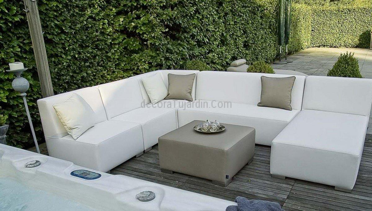 Muebles de jard n tapiceria n utica simple line for Sofa rinconera exterior