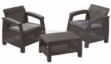 2 sillones y mesa jardín