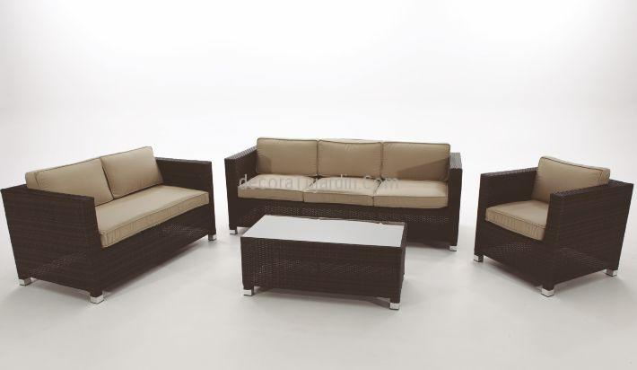 sillones y sofs de jardn para salon exterior rattn chocolate - Sillones Exterior