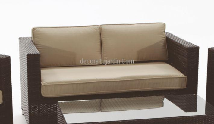 Sof de jard n de 2 plazas muebles de exterior en sala de for Sofa exterior jardin