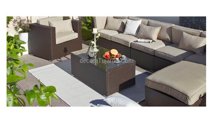 Mesa centro para composici n de sof de jard n - Muebles de jardin en barcelona ...