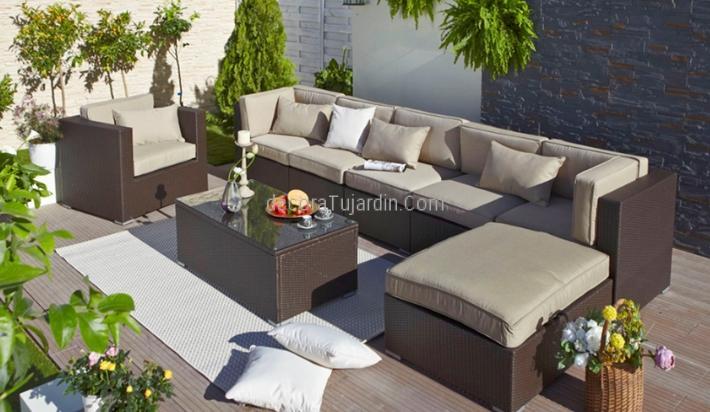 Sof modular jard n muebles de exterior modulares for Fundas muebles terraza