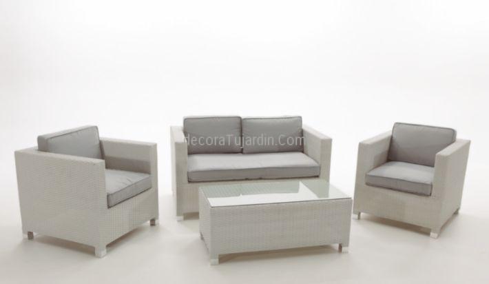 Sofá jardin modular blanco