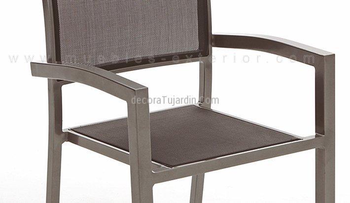 Sillas De Terraza Aluminio Gris Antracita