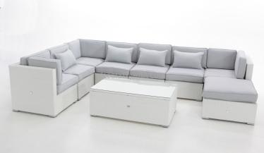 sofa jardin modular blanco