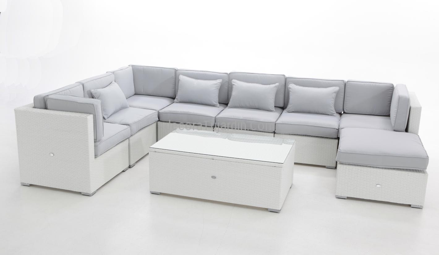 Sof jardin modular blanco - Sofas de esquina ...