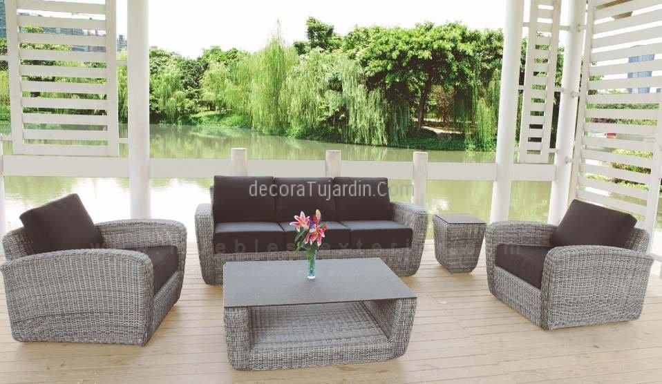 Mesa auxiliar terraza fibra for Fundas muebles terraza
