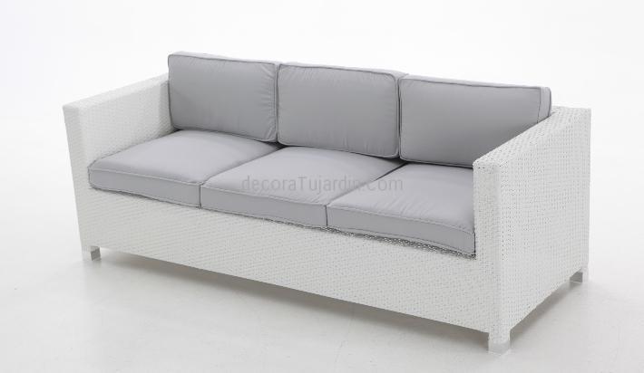 sofá jardin 3 plazas blanco