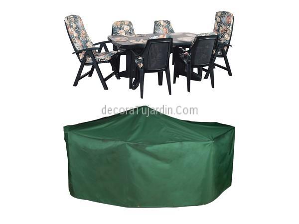 Funda ovalada mesa comedor con sillas jard n 270 x 180 x 89 for Fundas para sillas de jardin
